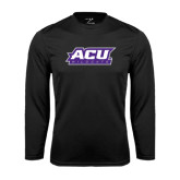Performance Black Longsleeve Shirt-ACU Wildcats