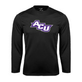 Performance Black Longsleeve Shirt-Angled ACU