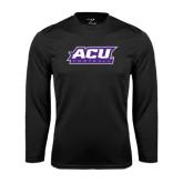Abilene Christian Syntrel Performance Black Longsleeve Shirt-Football
