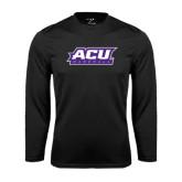 Abilene Christian Syntrel Performance Black Longsleeve Shirt-Baseball