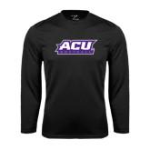 Abilene Christian Syntrel Performance Black Longsleeve Shirt-Softball