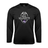 Abilene Christian Syntrel Performance Black Longsleeve Shirt-Tall Football Design