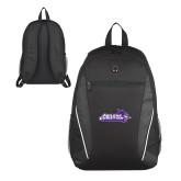 ACU Wildcat Atlas Black Computer Backpack-Primary Logo