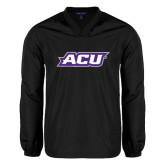 ACU Wildcat V Neck Black Raglan Windshirt-ACU