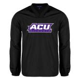 ACU Wildcat V Neck Black Raglan Windshirt-ACU Wildcats