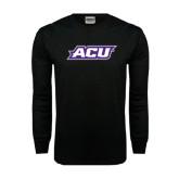Abilene Christian Black Long Sleeve TShirt-ACU