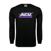 Abilene Christian Black Long Sleeve TShirt-ACU Wildcats
