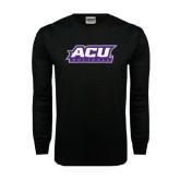 Abilene Christian Black Long Sleeve TShirt-Softball