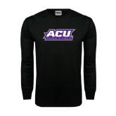 Abilene Christian Black Long Sleeve TShirt-Track & Field