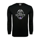 Black Long Sleeve TShirt-Tall Football Design