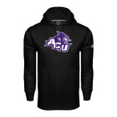 ACU Wildcat Under Armour Black Performance Sweats Team Hoodie-Angled ACU w/Wildcat Head
