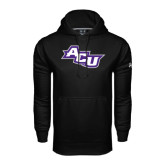 ACU Wildcat Under Armour Black Performance Sweats Team Hoodie-Angled ACU