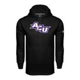 Under Armour Black Performance Sweats Team Hoodie-Angled ACU
