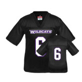 Youth Replica Black Football Jersey-#6