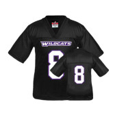 Youth Replica Black Football Jersey-#8