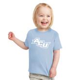 Abilene Christian Toddler Light Blue T Shirt-Angled ACU