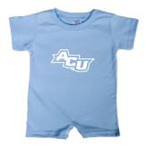 Abilene Christian Light Blue Infant Romper-Angled ACU