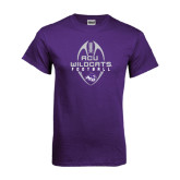 Purple T Shirt-Tall Football Design
