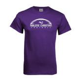 Purple T Shirt-Wide Football Design