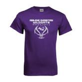 Purple T Shirt-Design On Basketball