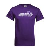 ACU Wildcat Purple T Shirt-Primary Logo Distressed
