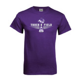 Purple T Shirt-Track and Field Shoe Design