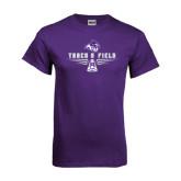 ACU Wildcat Purple T Shirt-Track and Field Shoe Design