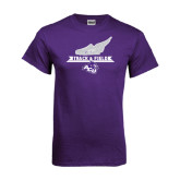 Purple T Shirt-Track and Field Side Shoe Design