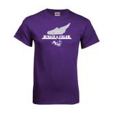 ACU Wildcat Purple T Shirt-Track and Field Side Shoe Design