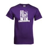 ACU Wildcat Purple T Shirt-Go Fight Win