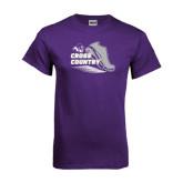 ACU Wildcat Purple T Shirt-Cross Country Shoe Design