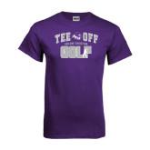 ACU Wildcat Purple T Shirt-Tee Off Golf Design