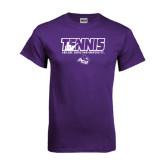 ACU Wildcat Purple T Shirt-Tennis Player Design