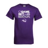 ACU Wildcat Purple T Shirt-Game Set Match Tennis Design