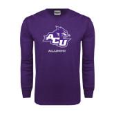 Abilene Christian Purple Long Sleeve T Shirt-Alumni