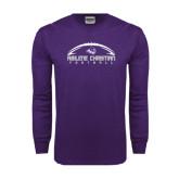 Abilene Christian Purple Long Sleeve T Shirt-Wide Football Design