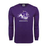 ACU Wildcat Purple Long Sleeve T Shirt-Grandpa