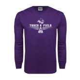 ACU Wildcat Purple Long Sleeve T Shirt-Track and Field Shoe Design