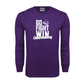 ACU Wildcat Purple Long Sleeve T Shirt-Go Fight Win