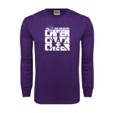 ACU Wildcat Purple Long Sleeve T Shirt-Cheer, Cheer, Cheer