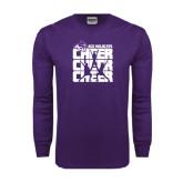 Purple Long Sleeve T Shirt-Cheer, Cheer, Cheer