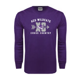 ACU Wildcat Purple Long Sleeve T Shirt-Cross Country Design