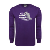 ACU Wildcat Purple Long Sleeve T Shirt-Cross Country Shoe Design