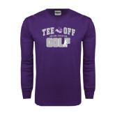 Purple Long Sleeve T Shirt-Tee Off Golf Design