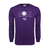 ACU Wildcat Purple Long Sleeve T Shirt-Golf Ball Design