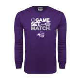 ACU Wildcat Purple Long Sleeve T Shirt-Game Set Match Tennis Design
