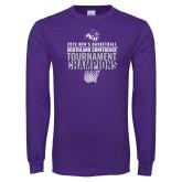Purple Long Sleeve T Shirt-2019 Mens Basketball Champions
