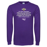 Purple Long Sleeve T Shirt-2019 Southern Conference Mens Basketball Champions