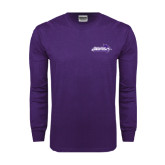 Abilene Christian Purple Long Sleeve T Shirt-Primary Logo