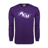 Purple Long Sleeve T Shirt-Angled ACU